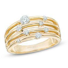 1/2 CT. T.W. Diamond Layered Orbit Ring in 10K Gold
