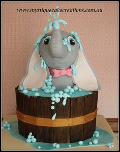 Elephant cake 3d elephant bathing by www.mystiquecakecreations.com.au
