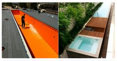 Stunning shipping container swimming pools.                         Gloucestershire Resource Centre http://www.grcltd.org/home-resource-centre/