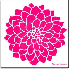 Large Dahlia Flower Decal  23- Vinyl Wall Art-vinyl decal. $24.00, via Etsy.