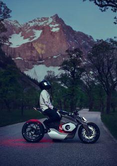 the BMW motorrad vision DC roadster is an emotional naked bike with electric drive Der BMW Motorrad Vision DC Roadster ist ein emotionales Naked Bike mit Elektroantrieb Bmw Motorcycle Models, Futuristic Motorcycle, Motorcycle Design, Bike Design, Moped Motorcycle, Motorcycle Touring, Motorcycle Quotes, Concept Motorcycles, Bmw Motorcycles