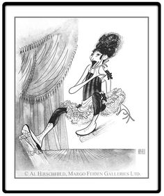 "Funny Girl: Barbra Streisand  Hand signed by Al Hirschfeld  Limited-Edition Etching  Edition Size: 150.  22"" x 15"""