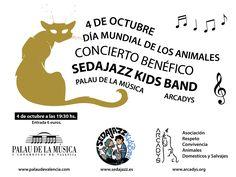 """Concierto benéfico de la banda """"Sedajazz kids band"""", banda de jazz integrada por niños. El concierto esta organizado por Arcadys con motivo del 4 de octubre día mundial de los animales. Será el 4 de octubre a las 19.30 horas en el Palau de la Música de Valencia.  Se puede comprar a traves de administracion@arcadys.   #Concierto benéfico #Día de los animales #Palau de la Música de Valencia #Sedajazz kids band Valencia, Jazz, Movies, Movie Posters, Home Decor, October, Concert, Sash, Report Cards"""