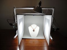 Build your own photography lightbox and take professional quality pictures.