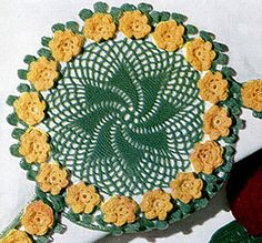Rose Whirl Motif #P-313 pattern by The Spool Cotton Company