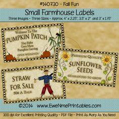 Farmhouse Labels - Fall Fun