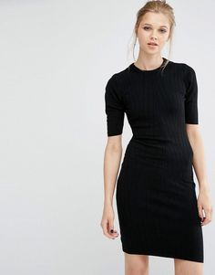 Y.A.S | Y.A.S Boni Ribbed Bodycon Dress In Knit at ASOS