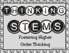 How do you get your students to use higher order thinking skills