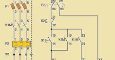 Esquema eléctrico unifilar marcha y paro Paros, Electrical Circuit Diagram, Electrical Installation, Floor Plans, Cnc, Classic, Electric Motor, Circuits, Derby