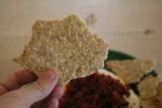 This simple twist on a great dip is made all the better with the homemade crisp bread which is packed with nuts and goodness that is SO moreish.