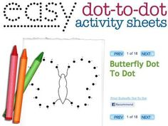 easy dot to dot printables - Google Search