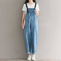 2017 Denim Bib Pants Female Bf Loose Plus Size Denim Trousers Female Jumpsuit Cheap Wholesale Bringing More Convenience To The People In Their Daily Life Bottoms