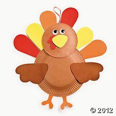 Paper Plate Turkey Craft Kit 12/8.00