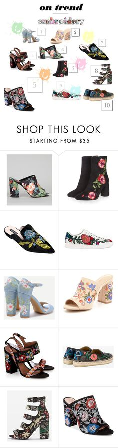 """""""Favorites embroidered shoes"""" by yamjate on Polyvore featuring mode, New Look, Topshop, Gucci, ALDO, Tabitha Simmons et Avec Les Filles"""
