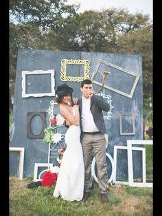 Photobooth wall - chalkboard