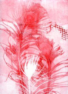 gelatine plate, akua ink, by Lottie Anderson