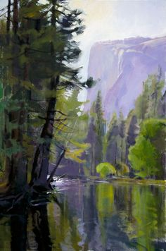 Eddy in the River with El Capitan by Marcia Burtt.