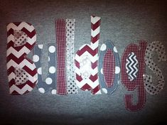 Hand Made Applique Mississippi State University Bulldogs t shirt or sweatshirt in adult and children sizes on Etsy, $30.00