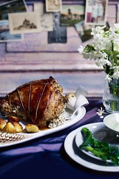 Boned leg of lamb with ricotta-and-mint stuffing - Lamb recipes Lamb Recipes, Meat Recipes, Cooking Recipes, Cooking Ideas, Easter Recipes, Holiday Recipes, Ricotta, Christmas Entrees, Spring Lambs