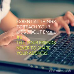 Essential things to teach your kids about email that you may not have thought about | CoolMomTech.com