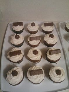 Kit Kat and Kiss Cupcakes