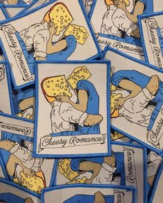 Repost @stickersbysmoth Cheesy Romance woven patch All stock now on sale Get in quick at http://ift.tt/2fBvMSL (link in bio) (Posted by https://bbllowwnn.com/) Tap the photo for purchase info. Follow @bbllowwnn on Instagram for the best pins & patches!