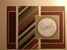 Scrapbooking card family