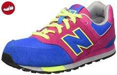 New Balance Unisex-Kinder 574 Cut and Paste Sneakers, Mehrfarbig (Blue/Pink), 32.5 EU (*Partner-Link)
