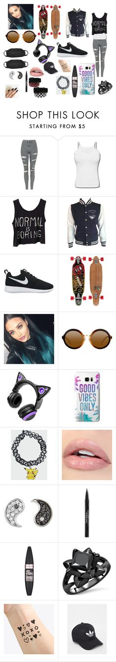 """""""Chill_look 2.0"""" by spider-1505 on Polyvore featuring Topshop, NIKE, Sector 9, Brookstone, Casetify, Sydney Evan, Trish McEvoy, Maybelline, NAVUCKO and adidas"""