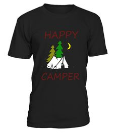 Happy Camper Funny Camping T-Shirt - Limited Edition
