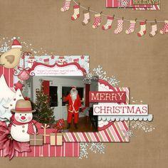 #papercraft #scrapbook #layout      Scrapbook Inspiration - cute stocking garland