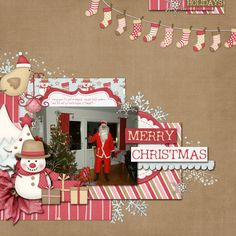 #papercraft #scrapbook #layout      Scrapbook Inspiration - cute stocking garland