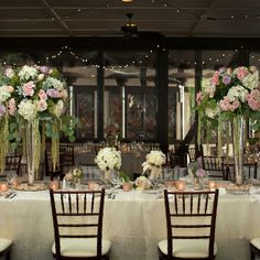Sophisticated reception decor |  Lauren Barney Photography, Inc | Something New Florist and Events | www.theknot.com