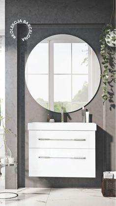 #meblełazienkowe #elita #meble #łazienka Bathroom Organization, Bathroom Storage, Modern Bathroom Design, Bathroom Furniture, Homes, Cook, Mirror, Recipes, Ideas