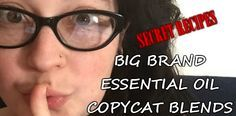 Big Name Essential Oil Copycat Blends. Whisper, serenity, and more!