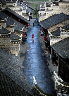 lovely old world street, china