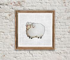 ANIMAL PRINT: SHEEP Sheep Print Sheep Art by SITMPrintables