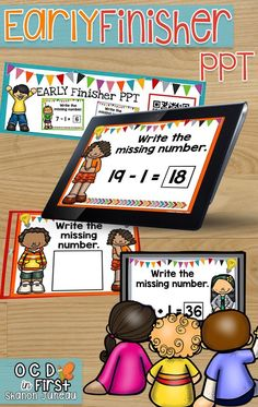 MISSING NUMBERS TO 39   This product comes with:  • A PPT that has addition and subtraction using 1 and 10 up to 39. There are 54 slides.  • QR code cards to use with devices  • A cover sheet to put in sheet protectors for students to write answers on that matches the ppt  These EARLY FINISHER PPTS are a huge success in our first grade classrooms, and have truly helped with differentiated instruction, more exposure, and our early finishers. :)