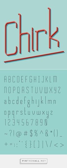 New Futuristic Free Fonts for Designers | Chirk Free Font | Graphic Design Junction - created via https://pinthemall.net