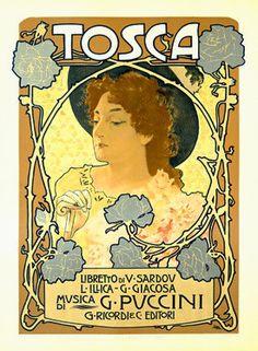 Tosca Opera Advertisement by Alphonse Mucha Fine Art Print