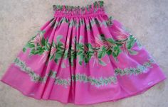 Girl's soft pink hula pa'u hula skirt by SewMeHawaii on Etsy