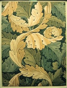 William Morris: This design was created from the works of the artist William Morris. It was instigated by the artist and writer William Morris in the and was inspired by the writings of John Ruskin. William Morris Wallpaper, William Morris Art, Morris Wallpapers, Art Nouveau, Art Deco, Arts And Crafts Movement, Impression Textile, Stoff Design, Art And Craft Design