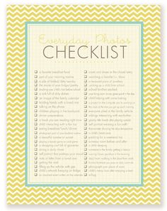 Printable Photo Checklists