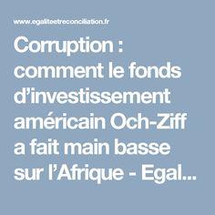 Corruption : comment le fonds d'investissement américain Och-Ziff a fait main basse sur l'Afrique - Egalite et Réconciliation