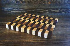 Purpleheart end grain cutting board. Board by HandCraftedMauZer