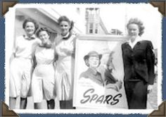 """WWII Coast Guard SPARS - The Women's Reserve of the Coast Guard (SPARS) was created on Nov. 23, 1942 """"to expedite the war effort by providing for releasing officers and men for duty at sea and their replacement by women in the shore establishment of the Coast Guard""""."""