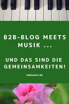Was haben ein B2B-Blog und Musik gemeinsam? Auf den ersten Blick nicht viel. Beim zweiten Hinsehen fällt jedoch auf: Hey, diese Gemeinsamkeiten rocken! Hier lesen Sie, was ins Ohr und Auge sticht. Content Marketing, Storytelling, Blog, Hello Word, Eye, Things To Do, Reading, Musik, Blogging