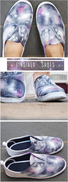 Galaxy shoes by  Time for Tea: Tutorial # 14! Add a T.A.R.D.I.S and these would be AWESOME!!!!