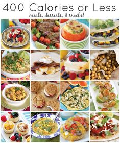 400 Calories or Less, meals desserts and snacks