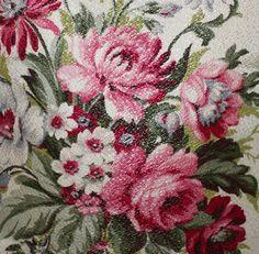 gorgeous vintage barkcloth